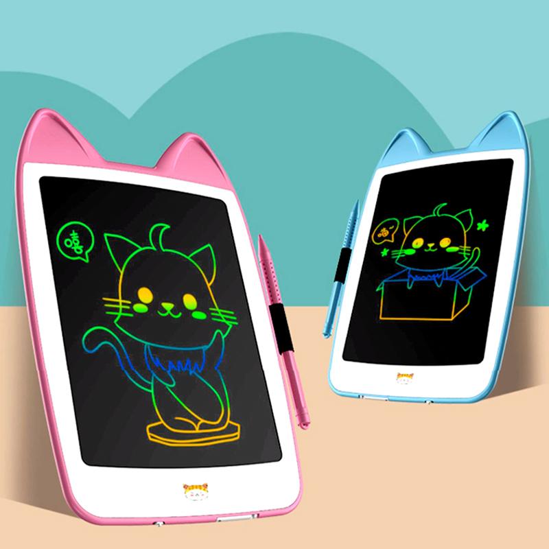卡通儿童画板液晶手写板小黑板宝宝涂鸦绘画画电子写字板玩具女孩