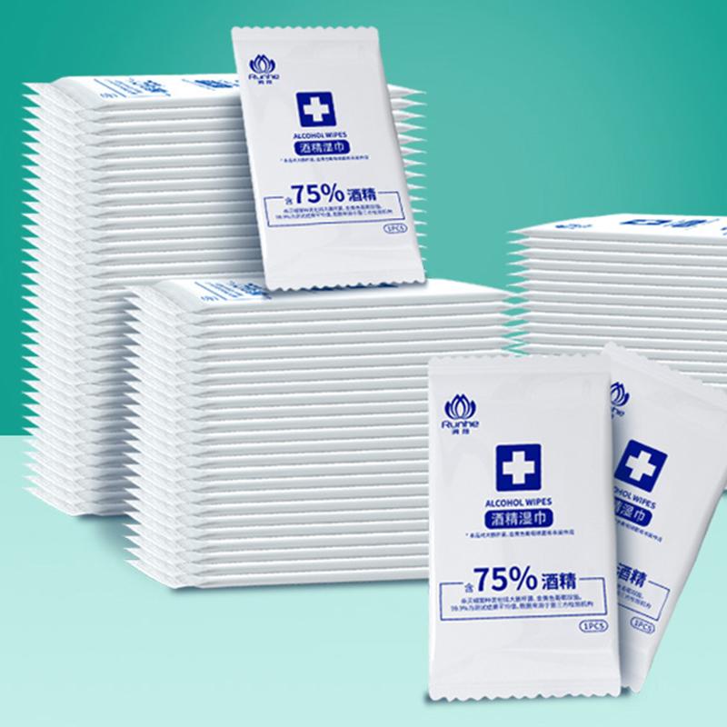 润荷酒精湿巾100片 单片独立装洁净便于携带