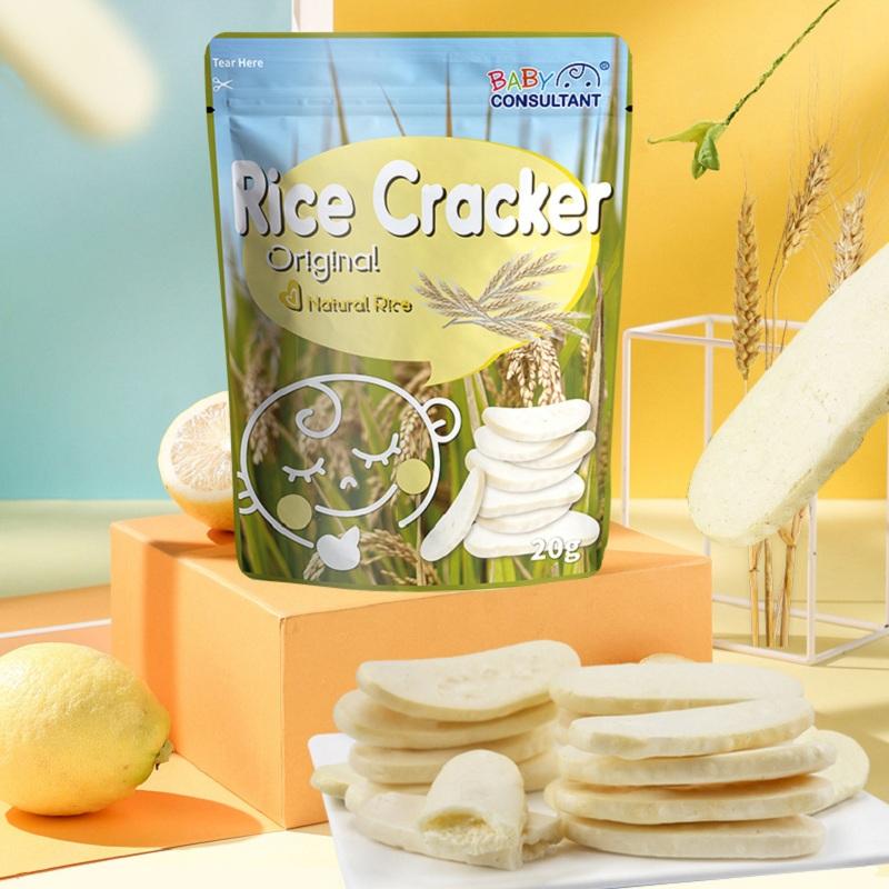 宝贝顾问宝宝辅食米饼原味苹果紫薯味儿童磨牙棒饼干20g*3袋