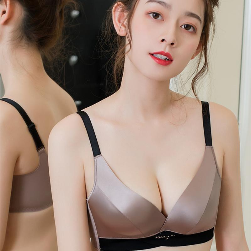 内衣女小胸聚拢无钢圈无痕文胸收副乳上托防下垂调整型薄款夏胸罩