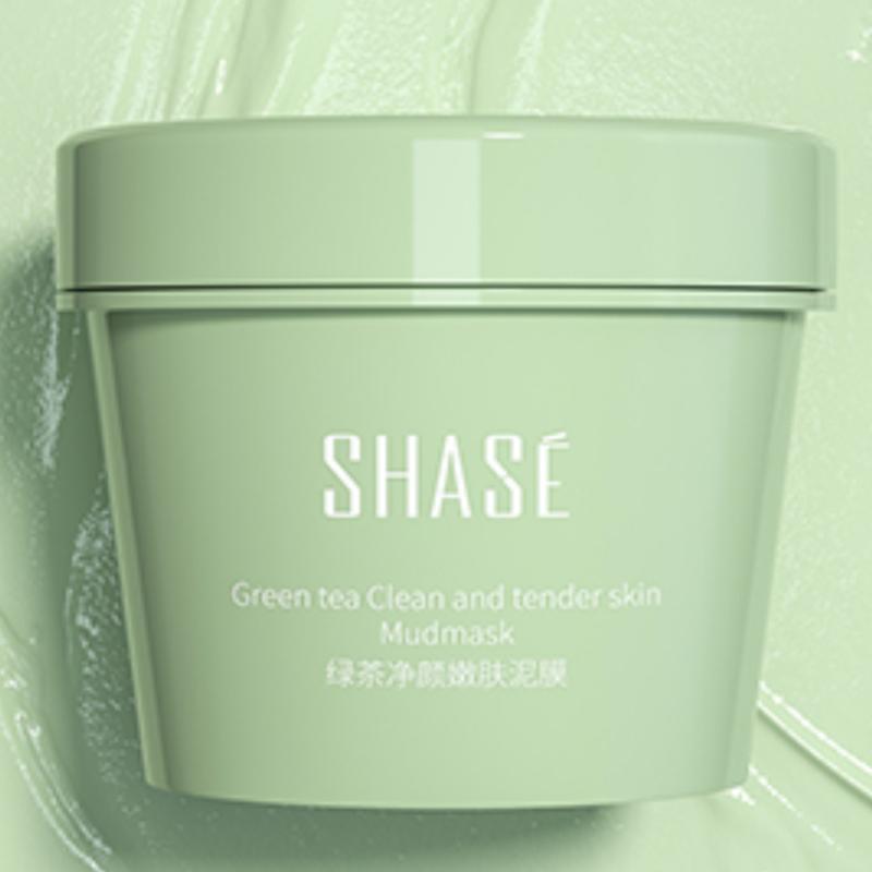 莎色深层清洁面膜保湿绿茶涂抹式泥膜男女控油去黑头粉刺毛孔收缩