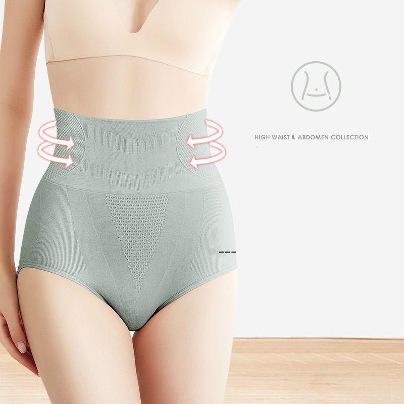 新款高腰收腹内裤女石墨烯收腰棉裆蜂巢暖宫束腰提臀三角裤女