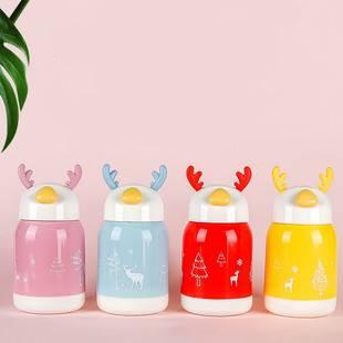 创意鹿角玻璃杯两层防烫杯 新年礼物