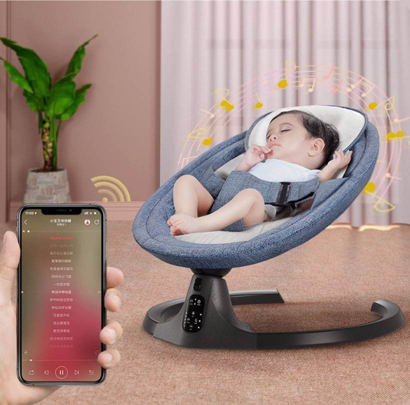 哄娃神器婴儿摇摇椅新生儿摇摇床宝宝电动摇篮带娃睡觉安抚椅哄睡