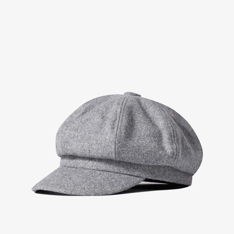 秋冬季加厚保暖毛呢八角帽超小号54cm60cm大头围报童帽男女贝雷帽