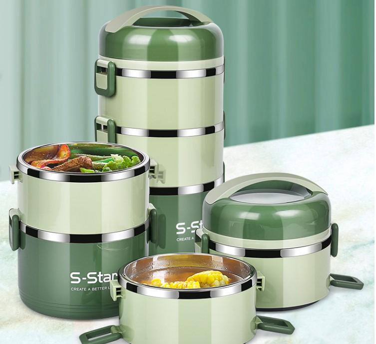 304不锈钢多层保温饭盒分隔型上班族便当餐盒携学生日式桶超长1人