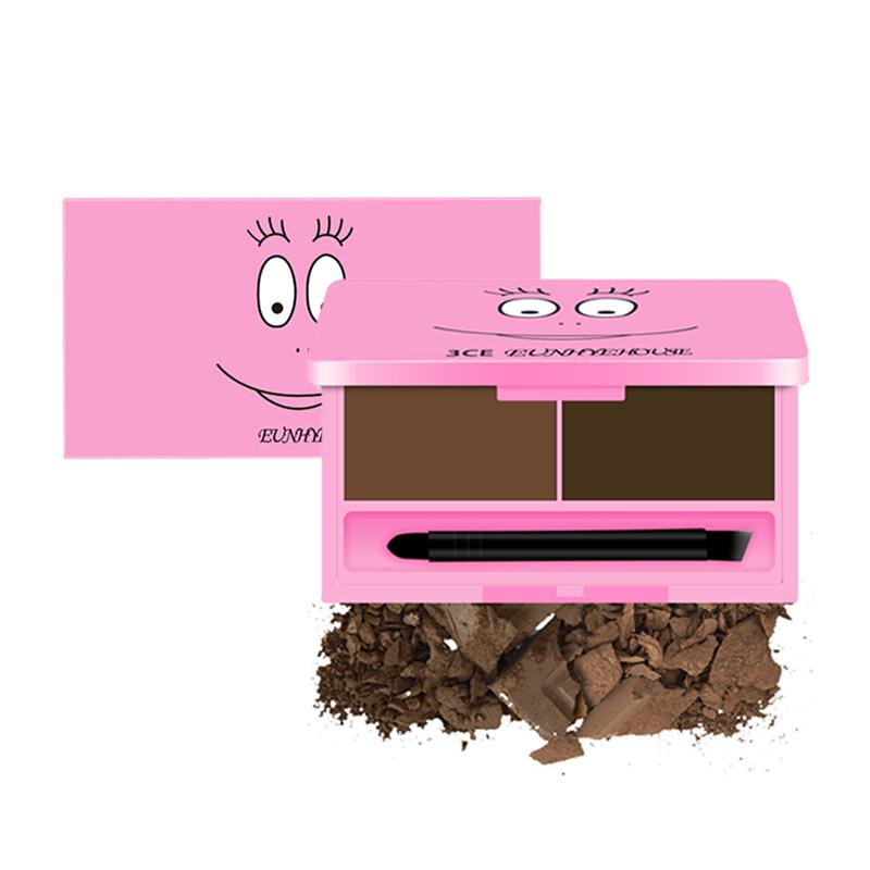 EUNHYE HOUSE卡通版三色眉粉 正品持久不脱色初学者自然防水