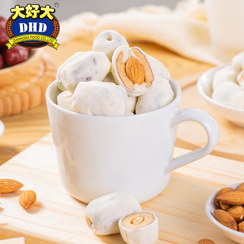 大好大奶枣休闲零食500g巴旦木夹心奶芙网红手工杏仁原味奶酪红枣