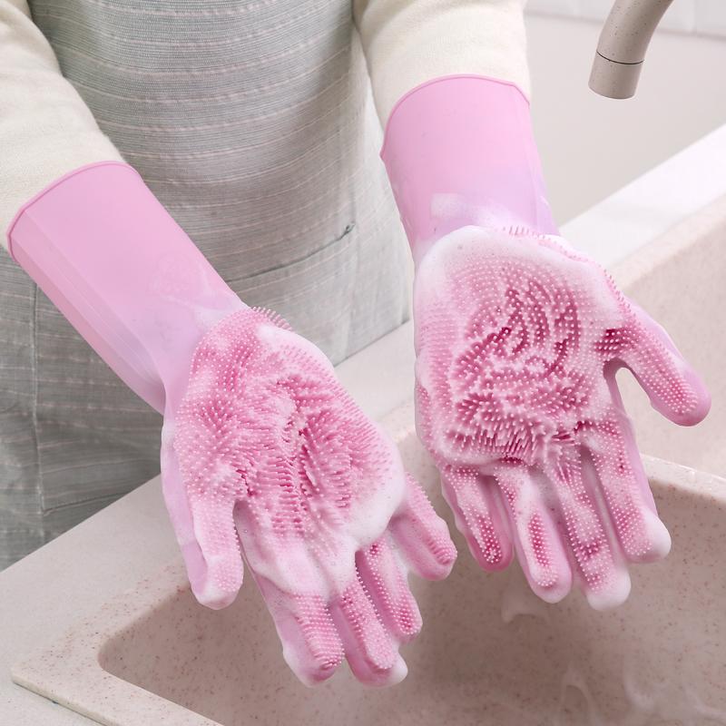 橡胶洗碗手套女家务用防水清洁神器硅胶耐用型厨房刷碗洗衣服