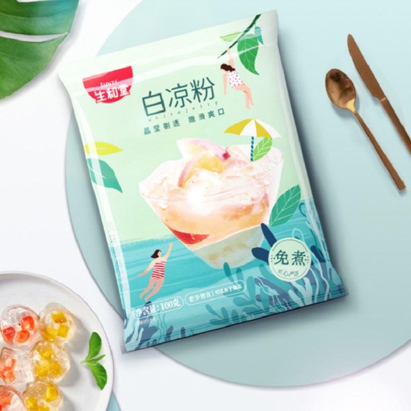 【100g】家用自制免煮白凉粉果冻