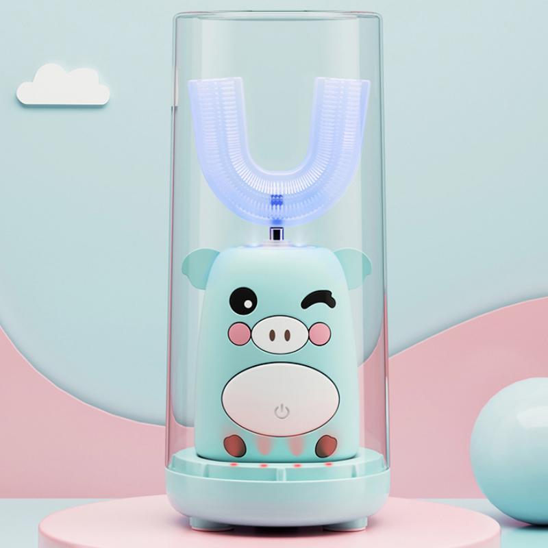 安欧儿童牙刷U形电动U型宝宝全自动2-6-14岁充电式牙刷护牙神器