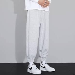 男士休闲长裤束脚九分卫裤薄款运动裤男裤子