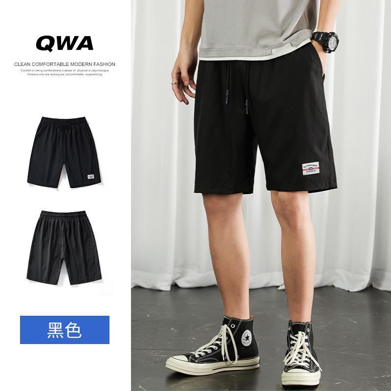 短裤男士夏季2021新款宽松休闲五分中裤子薄款运动外穿工装冰丝裤