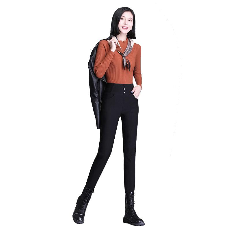 羽绒裤2020年新款女外穿时尚高腰显瘦冬季加厚保暖打底白鸭绒棉裤