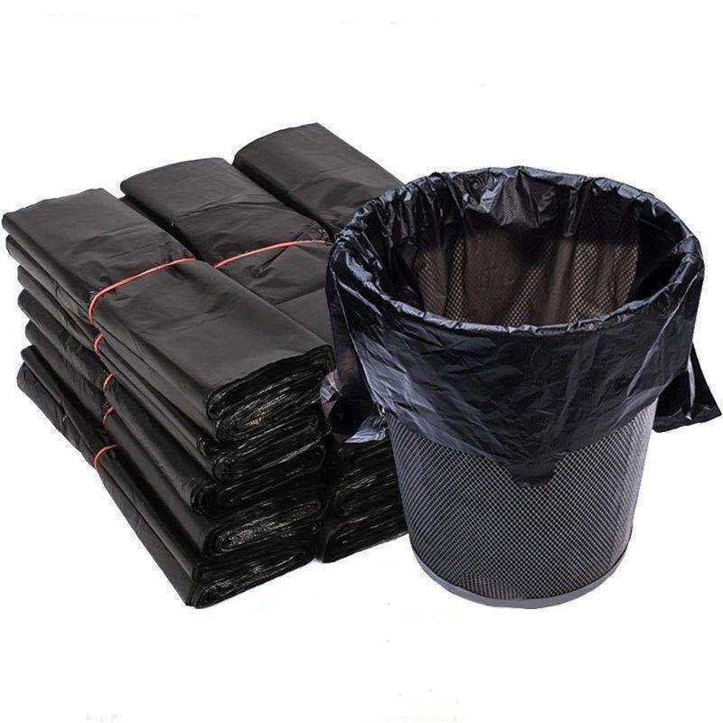 家用厨房垃圾袋加厚大号黑色手提背心式拉圾袋一次性塑料袋子厂家