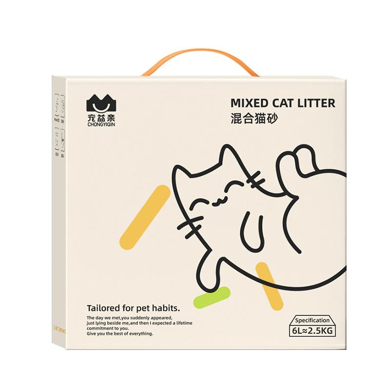 宠益亲6L豆腐猫砂除臭无尘混合豆腐砂渣猫咪用品猫沙大袋 2.5公斤