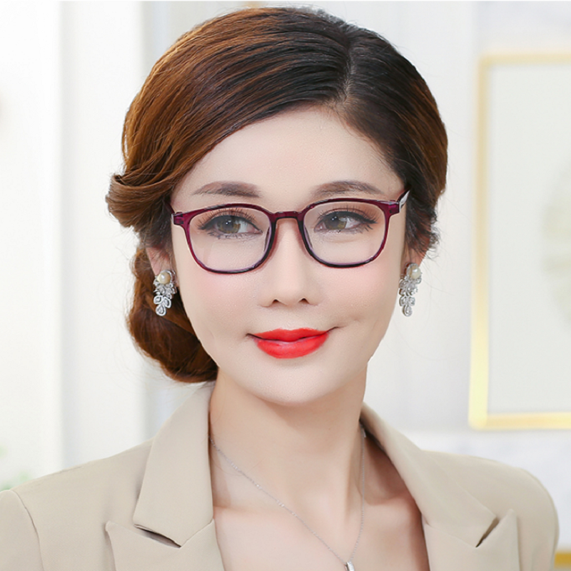 天然真水晶老花镜男女折叠舒适高清耐磨防疲劳石头中老年老光眼镜