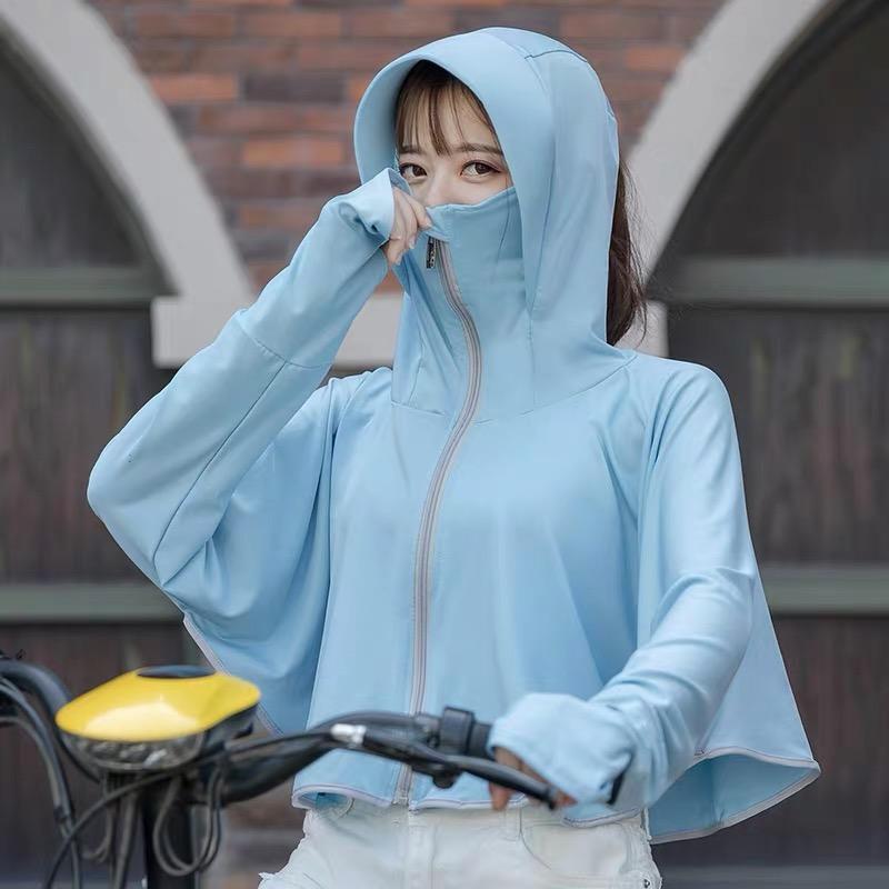 防晒帽子女夏遮脸骑车电瓶车面纱防紫外线面罩全脸遮阳大沿太阳帽
