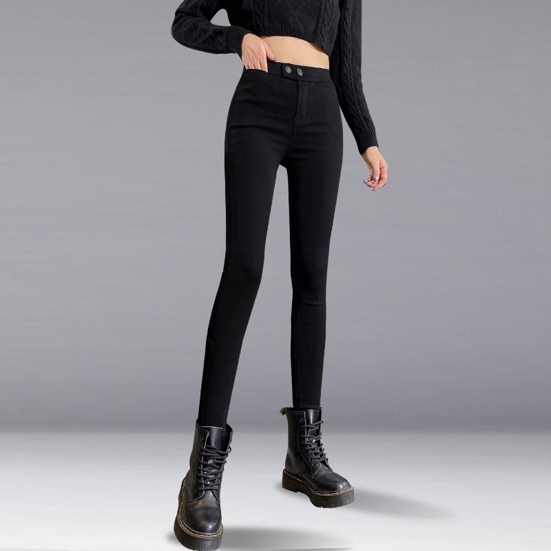 魔术裤女外穿2021春秋夏新款铅笔高腰显瘦打底裤薄款紧身小脚黑裤
