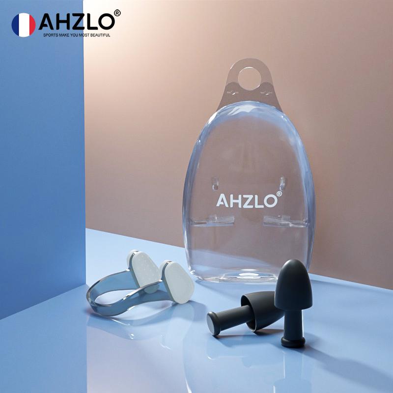 法国AHZLO安哲龙泳镜高清防雾防水近视男女成人大框专业游泳眼镜