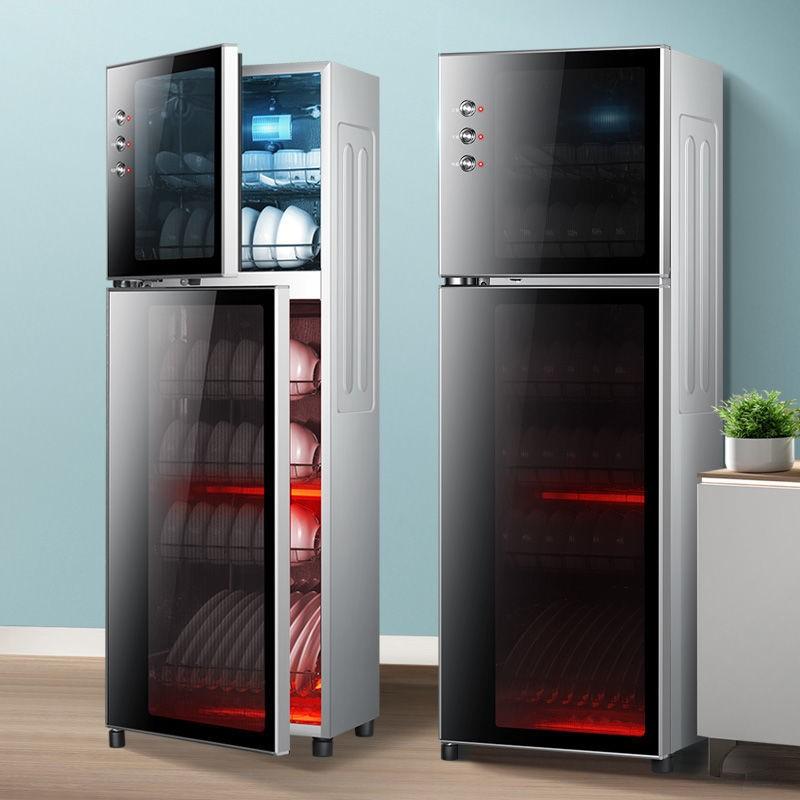小霸王消毒柜家用125度高温消毒碗柜小型台式不锈钢双门立式商用