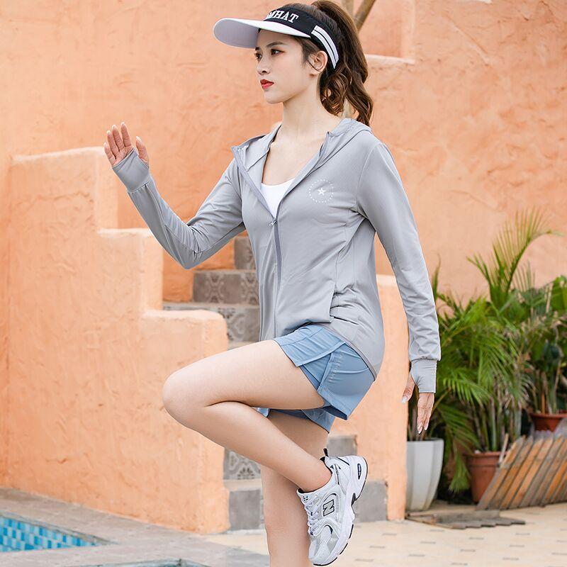 防晒衣女2021新款防晒外套防紫外线罩衫透气薄款夏季冰丝防晒服
