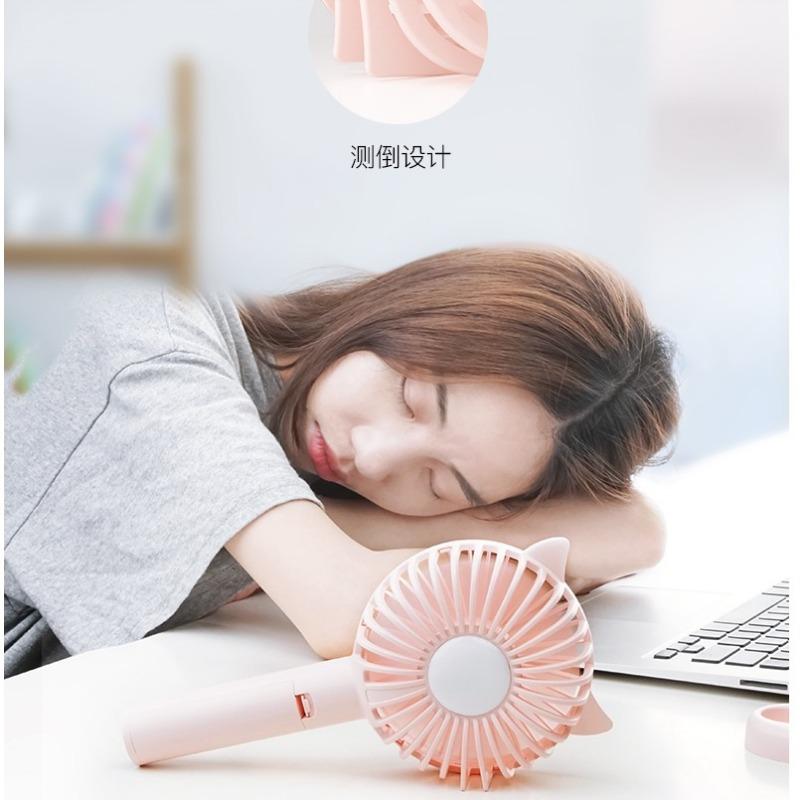随身小风扇手持便携式小型usb可充电型学生桌面迷你可爱宿舍床上夏天大风力静音电扇