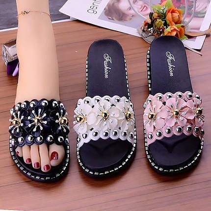 QkqI拖鞋女夏时尚外穿个性韩版学生防滑一字拖百搭厚底凉拖男装