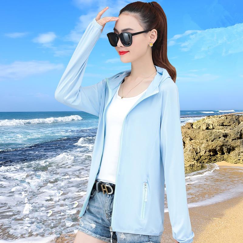 冰丝防晒衣女2021新款夏季薄款防晒衫防紫外线透气长袖防晒服外套