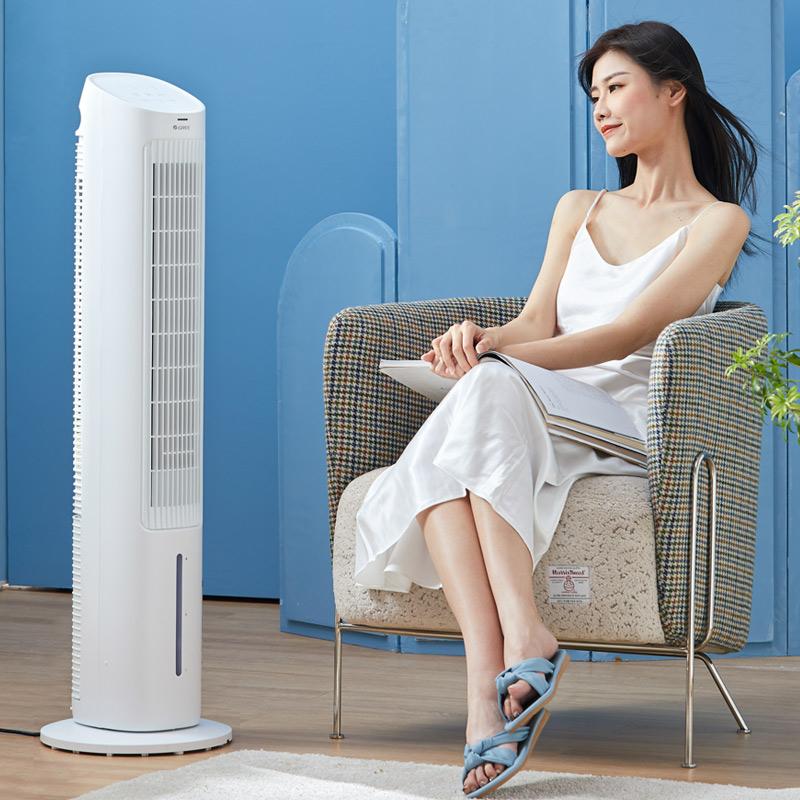 格力空调扇家用卧室静音冷风机遥控塔式制冷气扇立式摇头移动空调