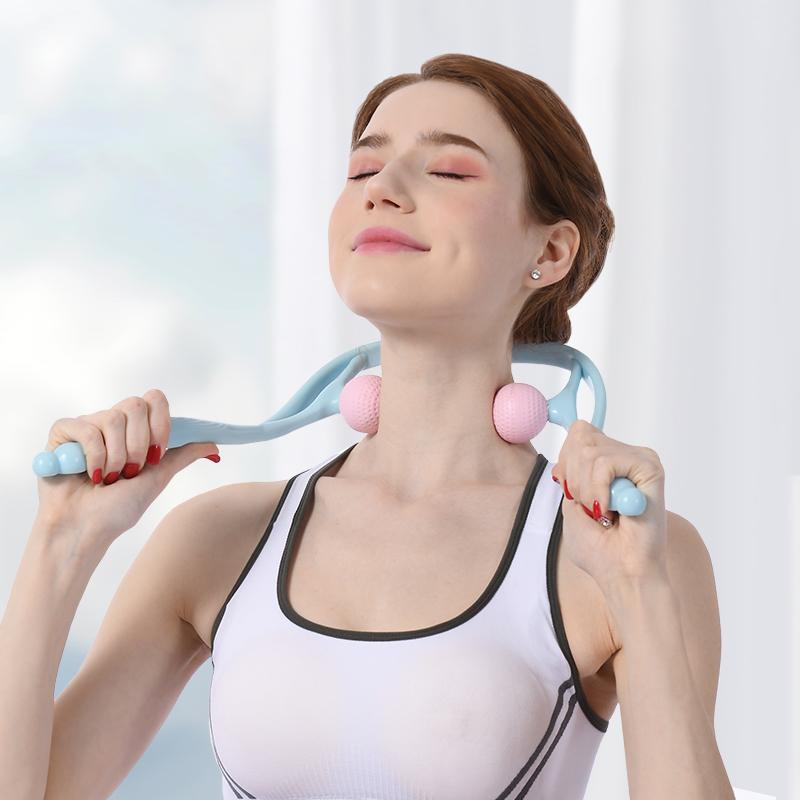 手动颈椎按摩器夹脖子颈部夹器肩颈疏通仪腰椎手持式揉捏家用神器