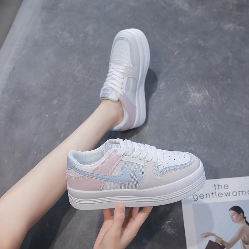 宣芭2021年新款韩版大头小白鞋女学生运动鞋女休闲ins潮板鞋子