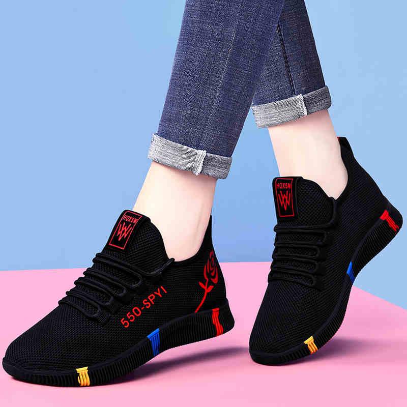 FbzK老北京布鞋女健步鞋软底防滑妈妈运动鞋透气网鞋时尚休闲单鞋