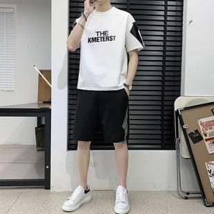 短袖t恤男装夏季运动休闲纯棉套装男士短裤