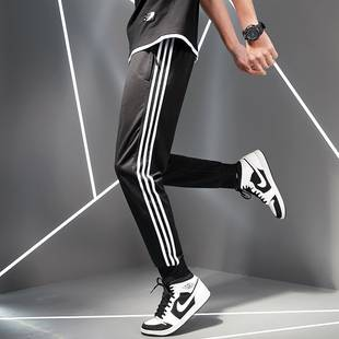 夏季运动裤男士休闲裤修身大码收口弹力卫裤
