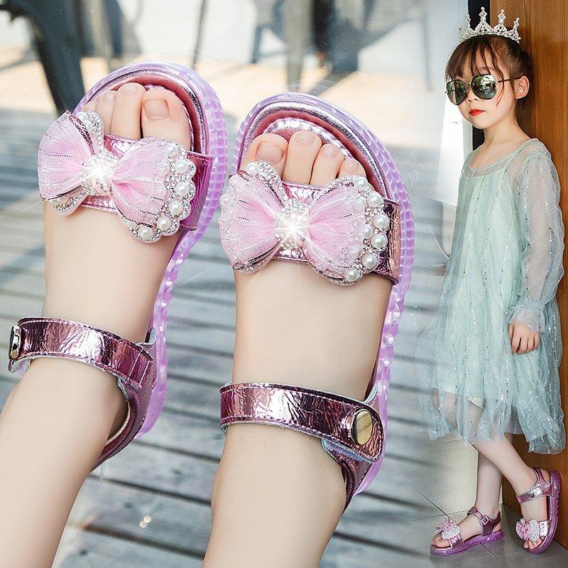 童鞋女童凉鞋2021年夏季新款儿童公主小学生软底中大童女孩沙滩鞋