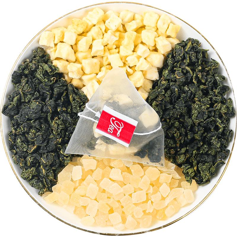 蜜桃白桃乌龙茶绿茶茶包花茶组合養生茶叶冷泡茶袋泡水果茶小包