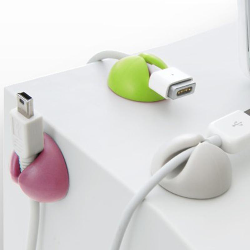数据线固定器桌面理线器耳机收纳扣手机线充电线集线器