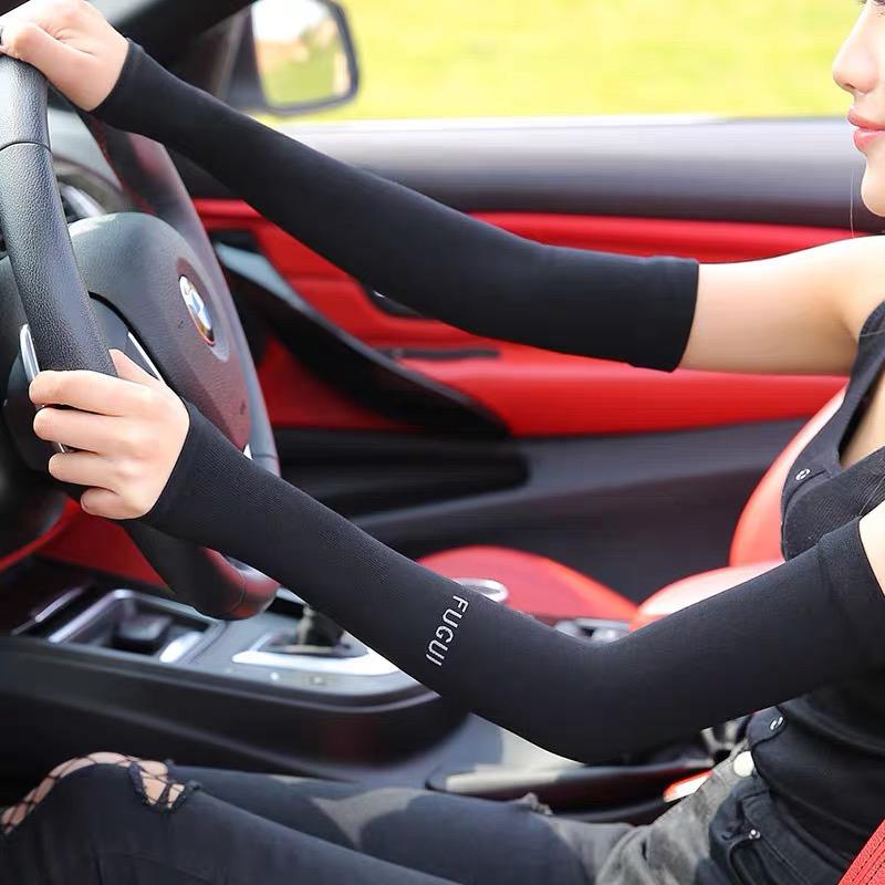 A开车外出防晒男女袖套手袖紫外线冰丝护臂手臂套袖夏季薄款手套