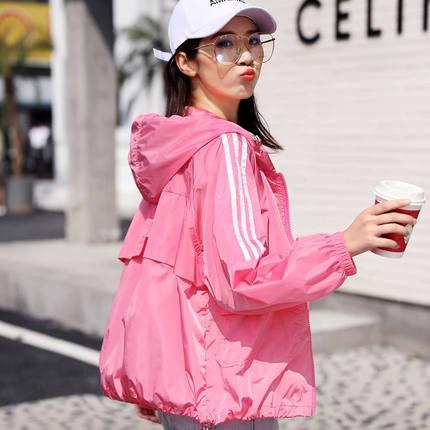 200斤可穿2021夏季新款韩版宽松连帽防紫外线防晒衣女百搭短外套C