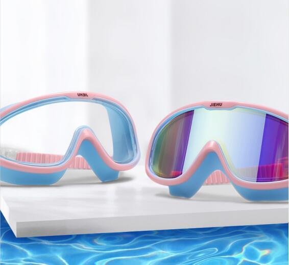 泳镜防水防雾高清近视潜水专业男女带度数大框游泳眼镜泳帽套装备