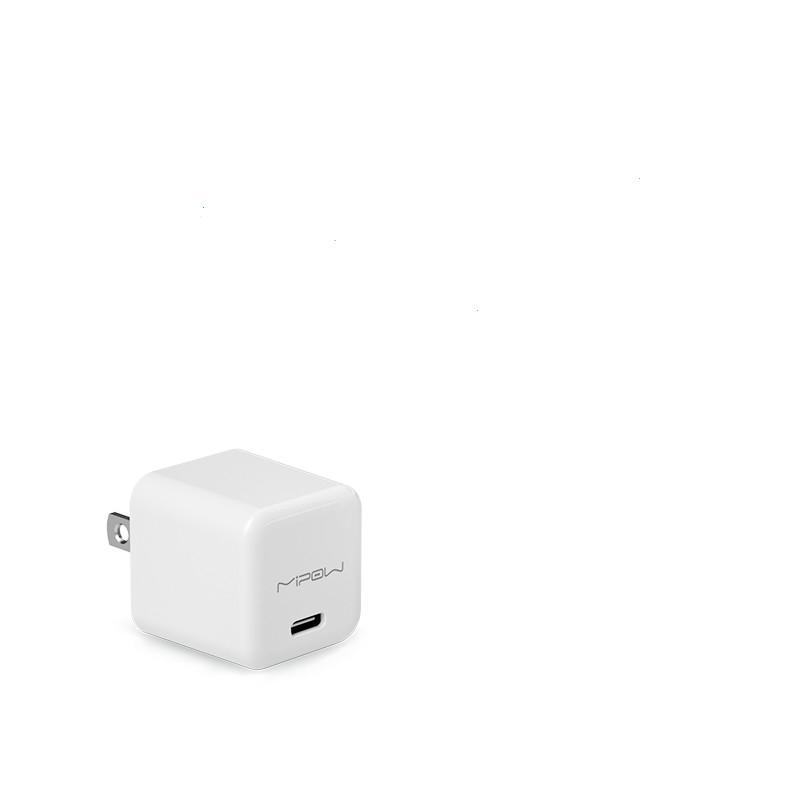 MIPOW麦泡PD快充20W迷你充电头充电器适用苹果手机iPhone12插头11Pro正品Promax数据线套装闪充ip