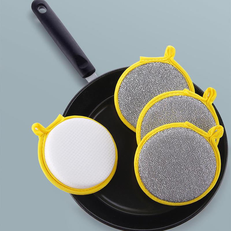 【5个装】加厚双面洗碗海绵擦