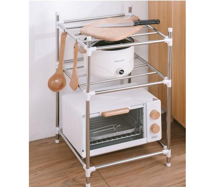 多层厨房不锈钢置物架锅盖架 厨房收纳架 厨房置物架落地厨房用品