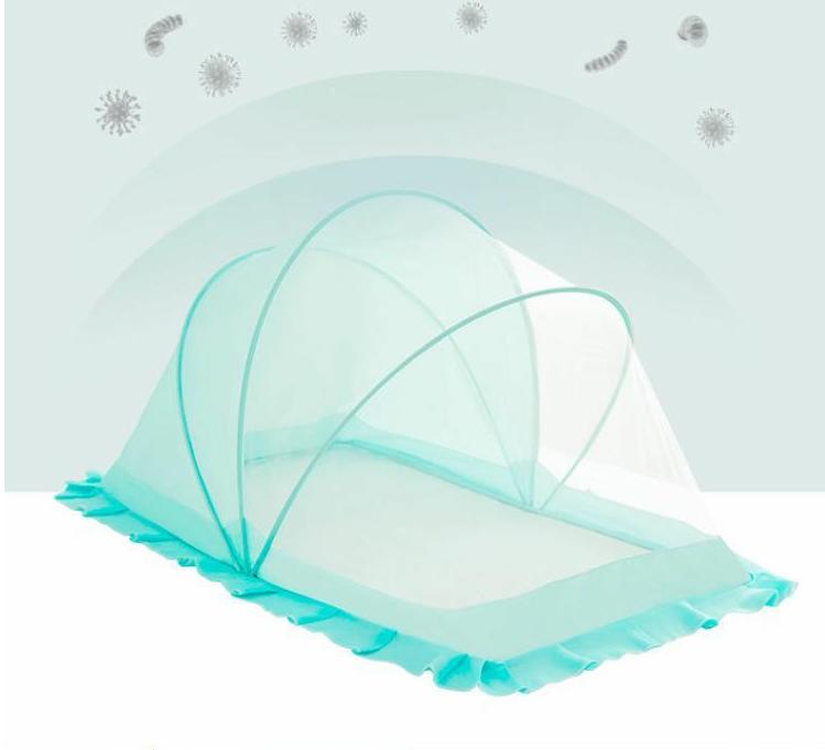 婴儿床蚊帐儿童宝宝蚊帐罩新生儿防蚊罩小孩蒙古包无底可折叠通用