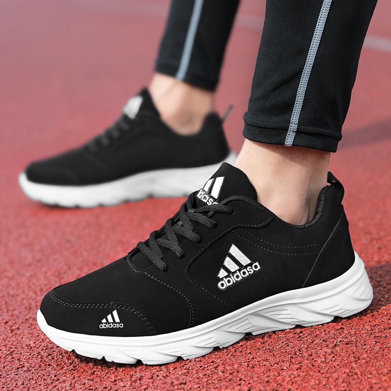 男鞋子2021新款青年休闲运动透气板鞋男士个性潮流防臭皮鞋跑步鞋