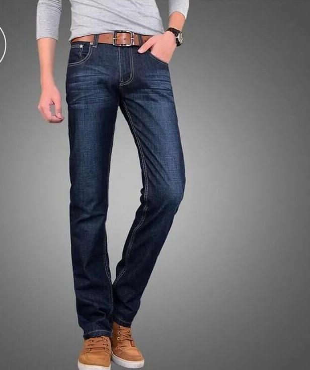 牛仔裤男士春夏新款弹力直筒中年人干活休闲长裤子宽松百搭式男裤
