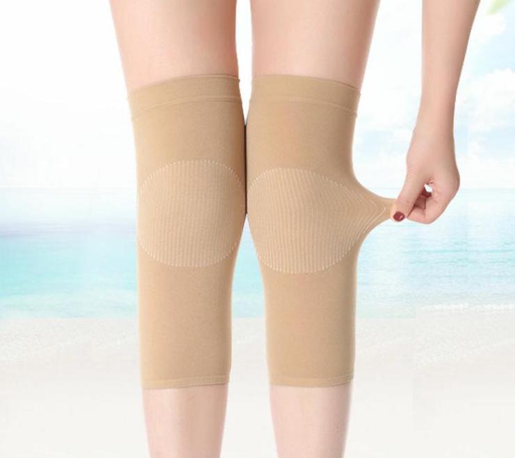 夏季护膝保暖女士老寒腿关节加绒透气夏天空调房超薄款隐形盖无痕