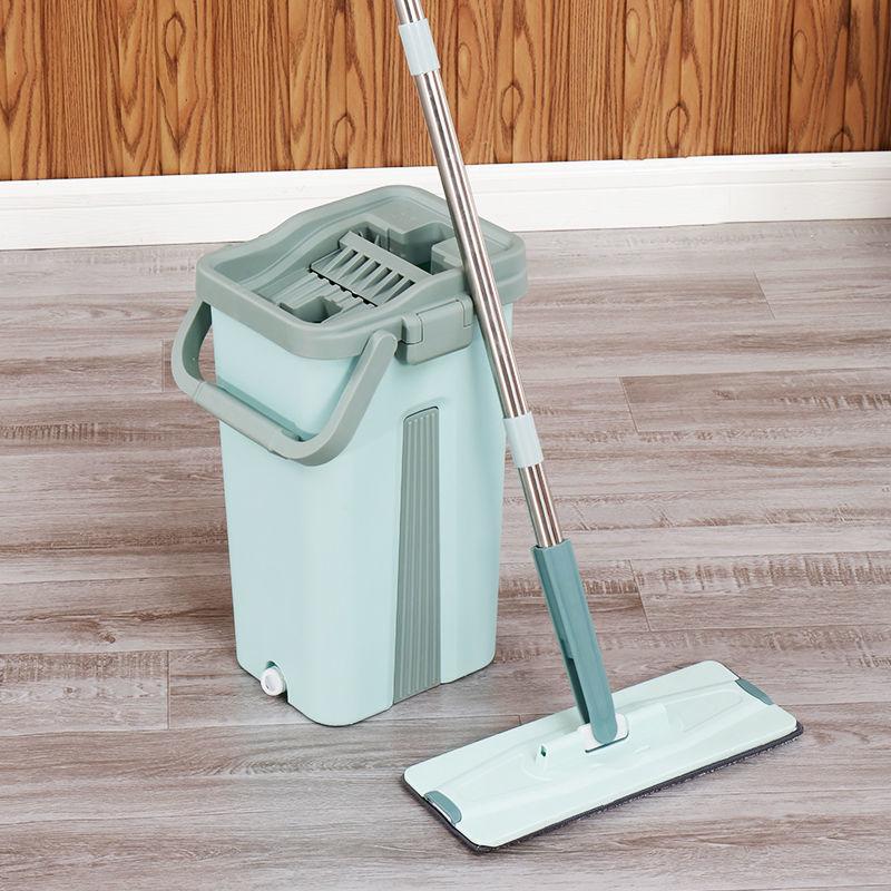 免手洗抖音拖把家用刮刮乐拖把懒人平板加厚拖地神器