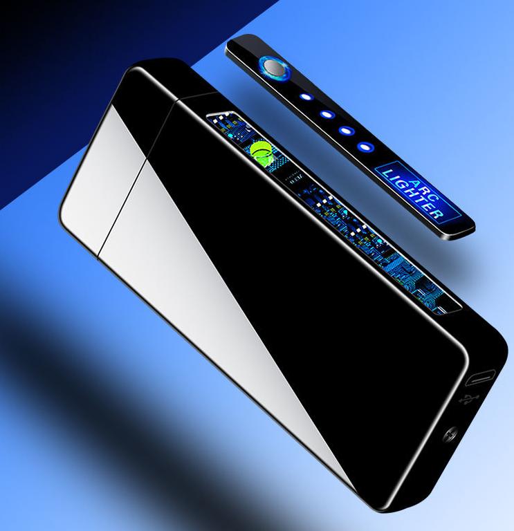 感应高档充电防风打火机送男友高科技定制电子多功能新款创意电弧